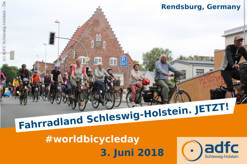 world bicycle day 2018 rendsburg northern germany